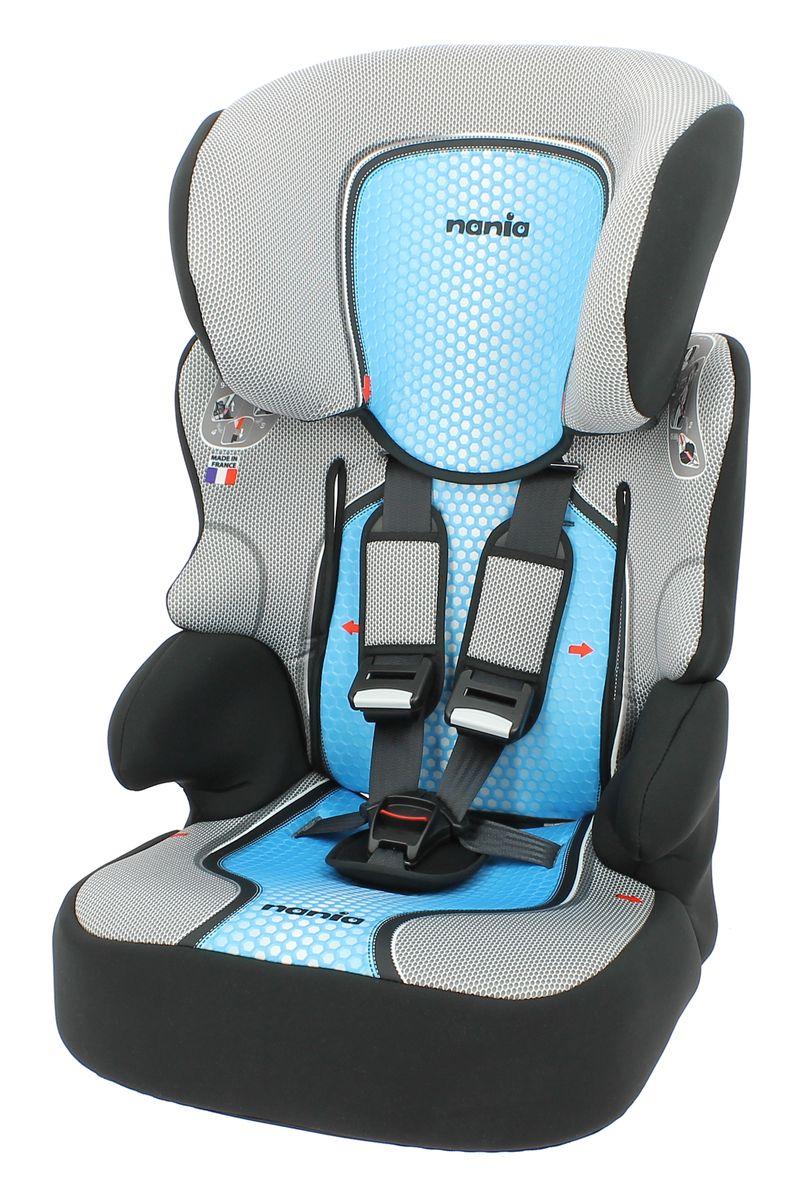 Nania Автокресло Beline SP First Pop Blue от 9 до 36 кг295608Автокресло Nania Beline SP относится к группе 1/2/3, от 8 месяцев до 12 лет (9-36 кг). Соответствует стандартам ECE R44/04. Серия FIRST - базовая версия автокресла Nania Beline SP, в отличии от серии ECO имеет принты на обивке. Автокресло гарантирует европейское качество и обеспечивает безопасность пассажира. Beline SP - это два кресла в одном. Оно охватывает все возрастные группы в возрасте от примерно 8 месяцев до 12 лет (когда ребенка в автомобиле уже можно перевозить без специального удерживающего устройства) благодаря регулируемому по высоте подголовнику. Когда ребенок подрастет, спинку автокресла можно отстегнуть и использовать только бустер. Автокресло Beline SP было разработано согласно самым жестким требованиям безопасности, а также учитывая ортопедические факторы: мягкая, приятная на ощупь обивка и анатомическая форма. Ваш ребенок будет чувствовать себя комфортно даже в дальних поездках. Широкий мягкий подголовник, спинка и подлокотники обеспечат дополнительный комфорт и безопасность маленького пассажира даже в случае бокового столкновения. Высоту подголовника можно регулировать по высоте, кресло растет вместе с вашим ребенком. Все тканевые части легко снимаются и стираются. Технические характеристики:Внешние размеры (Д х Ш х В): 45 см х 45 см х 72-88 см.Размеры сиденья (Д х Ш): 34 см х 30 см.Высота спинки: 64 см - 75 см.Монтаж в автомобиле: Задний диван или сиденье пассажира.Направление установки: по ходу движения.Регулировка подголовника: да.Вес: 4,7 кг.Класс: I-III, 9-36 кг.Система крепления: 5-точечные ремни безопасности.Ткань: 100% полиэстер, стирать до 30°C.