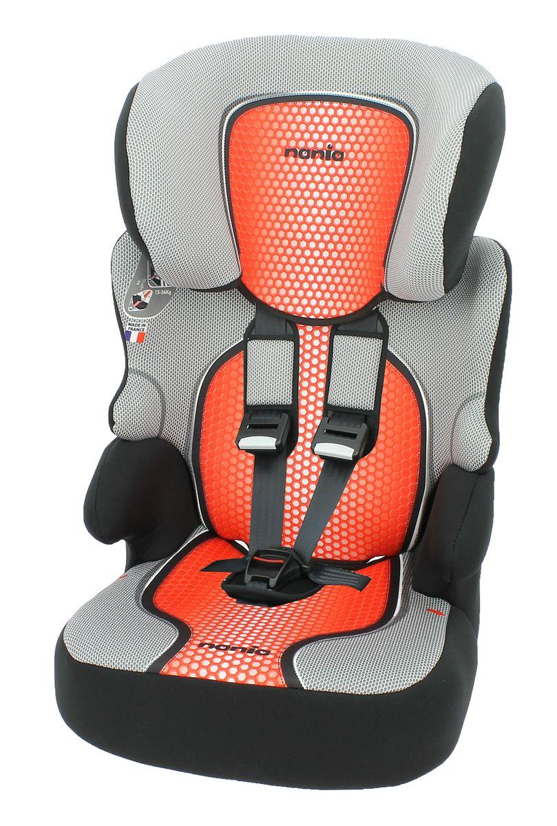 Nania Автокресло Beline SP pop red21395598Автокресло Nania Beline SP относится к группе 1/2/3, от 8 месяцев до 12 лет (9 - 36 кг). Соответствует стандартам ECE R44/04. Nania Beline SP это два кресла в одном. Оно охватывает все возрастные группы в возрасте от примерно 8 месяцев до 12 лет (когда ребенка в автомобиле уже можно перевозить без специального удерживающего устройства) благодаря регулируемой по высоте спинке. Когда ребенок подрастет, спинку автокресла можно отстегнуть и использовать только бустер. Автокресло Nania Beline SP было разработано согласно самым жестким требованиям безопасности, а также учитывая ортопедические факторы: мягкая приятная на ощупь обивка и анатомическая форма. Ваш ребенок будет чувствовать себя комфортно даже в дальних поездках. Широкие мягкие подголовник, спинка и подлокотники обеспечат дополнительный комфорт и безопасность маленького пассажира даже в случае бокового столкновения. Высоту подголовника можно регулировать по высоте, кресло растет вместе с вашим ребенком. Все тканевые части легко снимаются и стираются.
