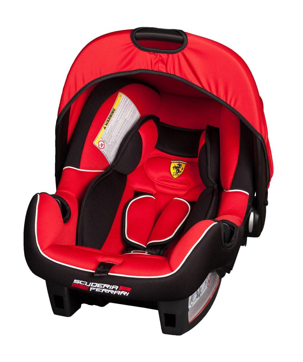 Nania Автокресло Beone SP Ferrari Corsa до 13 кгДА-18/2+Н550Автокресло Nania Beone SP разработано специально для новорожденных и гарантирует комфорт и безопасность маленького пассажира во время поездки в автомобиле.Каркас кресла имеет удобную анатомическую форму и поддерживает неокрепшие мышцы малыша, внутри мягкая подушка. Кресло оснащено регулируемыми трехточечными ремнями безопасности с тремя уровнями регулировки по высоте и мягкими плечевыми накладками. Особая конструкция с двойными стенками и расширением в области головы гарантирует оптимальную защиту при боковом ударе. Солнцезащитный козырек не допускает попадания прямых солнечных лучей и пропускает воздух. Тканевую обивку и подушку можно снимать и стирать при температуре воды не выше 30° C. Кресло также может использоваться как качалка и детская переноска. Имеется эргономичная регулируемая ручка для транспортировки. Кресло устанавливается на заднем сиденье или спереди на пассажирском против направления движения с обязательным отключением подушки безопасности. Благодаря специальной системе крепления автокресло легко и надежно фиксируется в автомобиле. Проверено и одобрено в соответствии с требованиями европейского стандарта ECE R44/04.