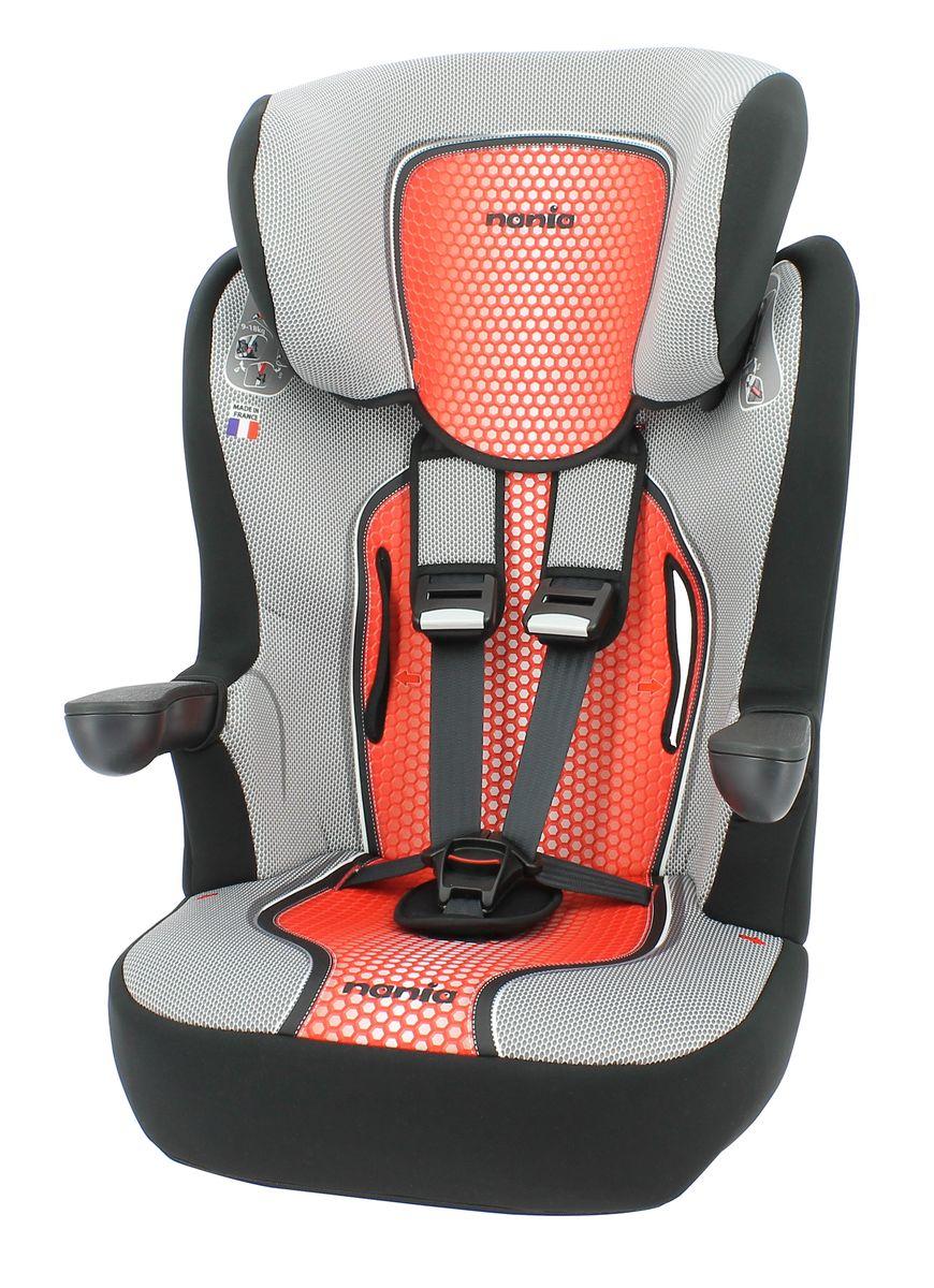 Nania Автокресло Imax SP First Pop Red от 9 до 36 кг80625Автокресло Nania Imax SP группы 1-2-3 предназначено для детей весом от 9 до 36 кг (от 8 месяцев до 12 лет) и соответствует стандартам ECE R44/04.Высокий уровень безопасности достигнут благодаря цельному литому корпусу и продуманной конструкции автокресла. Это подтверждено краш-тестами, проведенными в собственной лаборатории производителя, компании TEAM TEX, которая традиционно уделяет первостепенное внимание безопасности маленького пассажира в автомобиле. Вся выпускаемая продукция Nania отвечает самым строгим Европейским стандартам соответствия и безопасности ECE R44/04, FMVSS 213, SABS 1340.Благодаря длительному периоду использования и регулируемому по высоте подголовнику Nania Imax SP охватывает все возрастные группы от 8 месяцев до 12 лет (когда кресло уже не нужно). Nania Imax SP было разработано на основе требований безопасности, а также ортопедических факторов: мягкие обивка и подушки, а также анатомическая форма Nania Imax SP обеспечивает комфорт даже в дальних поездках. Nania Imax SP имеет удобные подлокотники, которые при необходимости можно поднять вверх. Система боковой защиты Side Protection (SP) обеспечивает необходимую безопасность даже при боковом столкновении. Подголовник можно отрегулировать по высоте, таким образом автокресло оптимально адаптируется к росту ребенка. 5-ти точечные ремни безопасности можно регулировать не только по длине и высоте, но и снять совсем, когда ребенок подрастет. Обивка выполнена из 100% полистирола, которую легко снимается и моется. Серия FIRST - базовая версия автокресла, имеет простой дизайн, но при этом гарантирует европейское качество и обеспечивает безопасность пассажира. Технические характеристики:Внешние размеры (Д х Ш х В): 45 см x 45 см x 72-88 см Внутренние размеры (Д х Ш): 32 см x 40 см.Высота спинки:64 см - 75 см.Вес: 4,7 кг.Монтаж в автомобиле: Задний диван или сиденье пассажира.Направление установка: по ходу движения.Класс: I-III, 9-36 кг.Система крепл