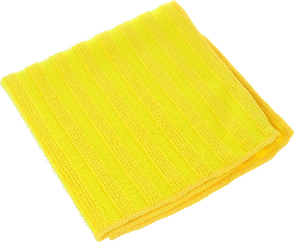 Салфетка Sol Crystal из микрофибры, двухсторонняя, цвет: желтый, 30 x 30 смVCA-00Салфетка Sol Crystal выполнена из микрофибры с разносторонним плетением: одна сторона с абразивными полосками удаляет стойкие загрязнения и известковый налет, другая - мягко полирует поверхности и хорошо впитывает влагу. Можно применять различные моющие средства.Устойчива к деформациям при машинной стирке.Не оставляет разводов и ворсинок.Размер салфетки: 30 х 30 см.