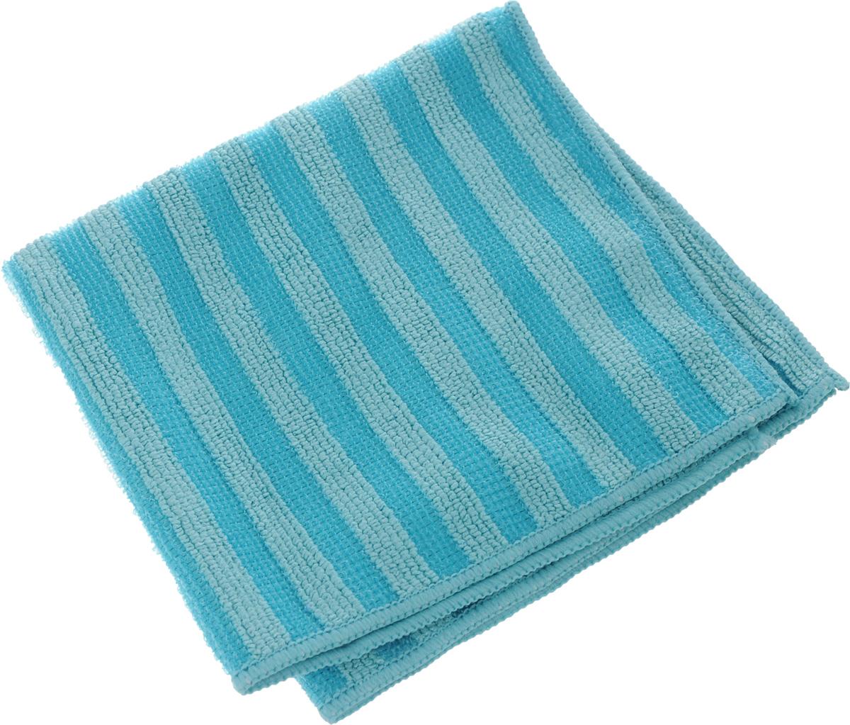 Салфетка Sol Crystal из микрофибры, двухсторонняя, цвет: голубой, 30 x 30 смZ-0307Салфетка Sol Crystal выполнена из микрофибры с разносторонним плетением: одна сторона с абразивными полосками удаляет стойкие загрязнения и известковый налет, другая - мягко полирует поверхности и хорошо впитывает влагу. Можно применять различные моющие средства.Устойчива к деформациям при машинной стирке.Не оставляет разводов и ворсинок.Размер салфетки: 30 х 30 см.