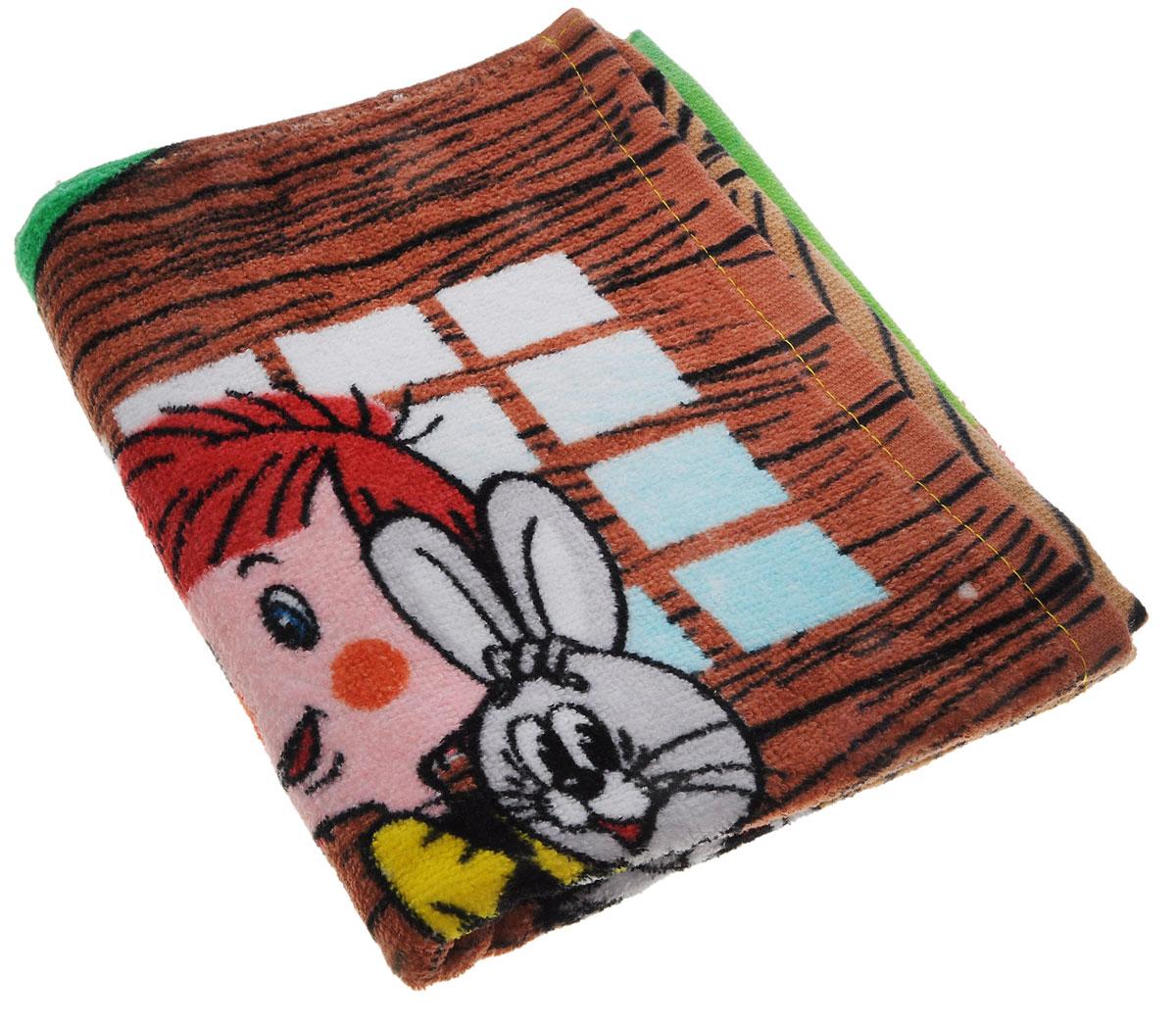 Мульткарнавал Полотенце махровое Трое из Простоквашино Фотосессия 40 см х 70 см