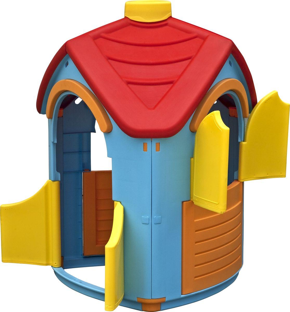 """Домик """"Вилла"""" – уникальная игрушка. В нем ребенок становится хозяином собственного «сказочного мира». В процессе игры малыш примеряет на себя различные социальные роли, тем самым происходит первичный процесс адаптации Когда ребенок играет с друзьями, у него улучшается коммуникативный процесс, что также важно для будущей жизни. Домик сделан из качественного пластика. Имеет красочный дизайн, имитирующий «реальный дом». Удобная конструкция позволяет легко собирать домик, а также без труда размещать его как в квартире, так и на природе. Детали домика соединяются и закрепляются специальными пластиковыми гайками, которые входят в комплект; конструкция домика очень надёжная и устойчивая; вход с двумя дверками, при закрывании фиксирующимися снизу; два больших окошка, одно со ставенками, при закрывании фиксирующиеся снизу."""
