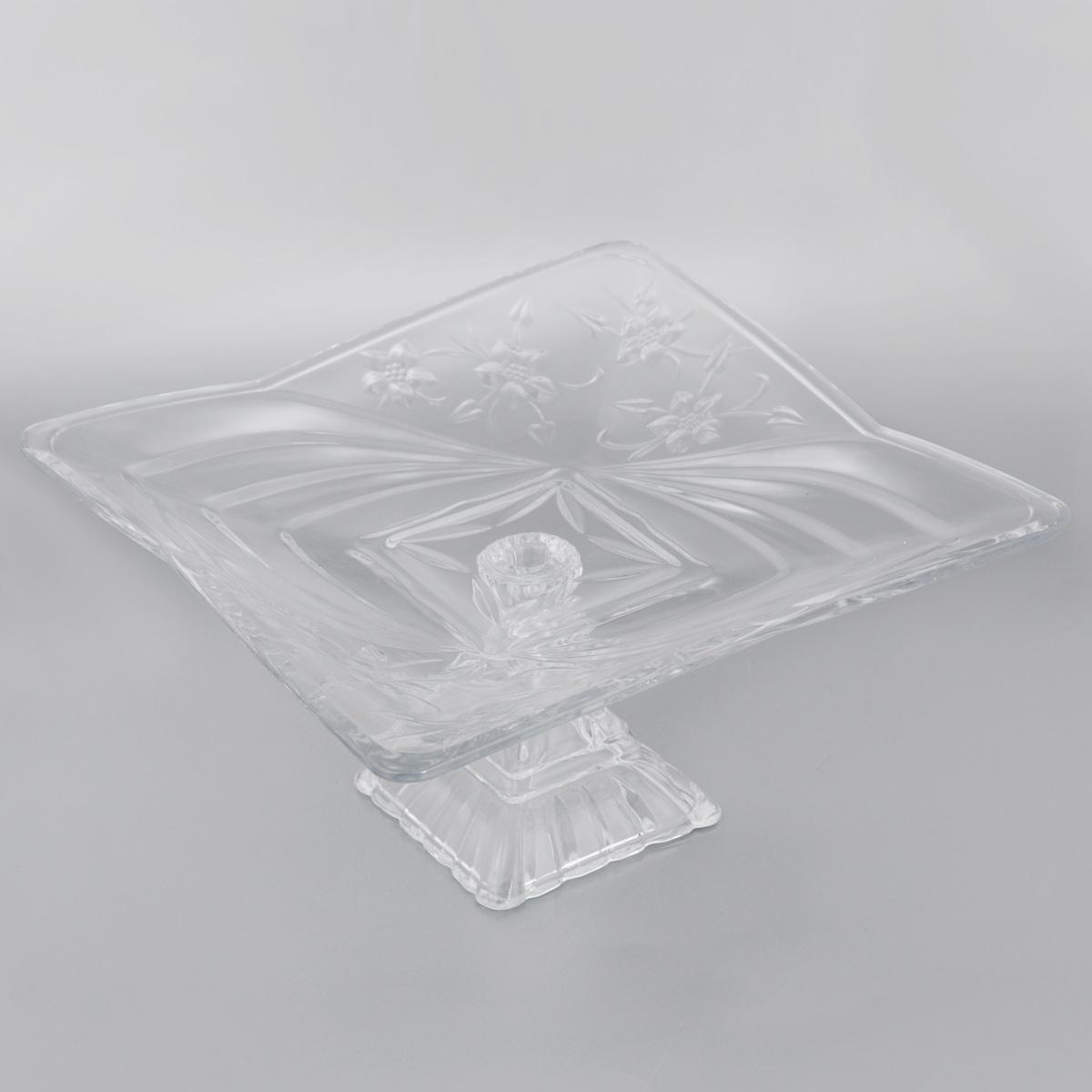 Конфетница на ножке Soga Клематис, 29 х 29 см115510Элегантная конфетница Soga Клематис на ножке, изготовленная из прочного стекла, имеет многогранную рельефную поверхность. Конфетница предназначена для красивой сервировки сладостей. Изделие придется по вкусу и ценителям классики, и тем, кто предпочитает утонченность и изящность. Конфетница Soga Клематис украсит сервировку вашего стола и подчеркнет прекрасный вкус хозяина, а также станет отличным подарком.Можно мыть в посудомоечной машине.Размер по верхнему краю: 29 х 29 см.Высота: 15 см.