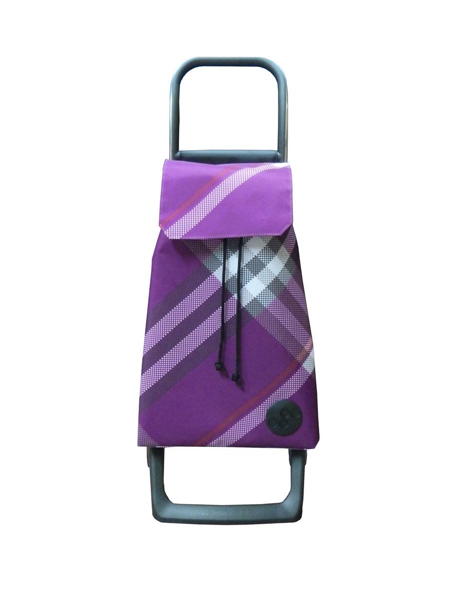 Сумка хозяйственная Rolser, на колесиках, цвет: фиолетовый, 36 л47013_синийАлюминиевая тележка для покупок Rolser с 2 колесами. Колеса выполнены из резины EVA. Эргономичная ручка, складываемая передняя подставка. Сумка имеет форму рюкзака, ткань полиэстер, влагоустойчивая, имеет удобное закрытие сумки и легко крепиться на раме. Тележка не складывается. Объем: 36 л. Диаметр колес: 13,2 см. Рекомендованная нагрузка: 25 кг.Чистка ручная или химчистка.