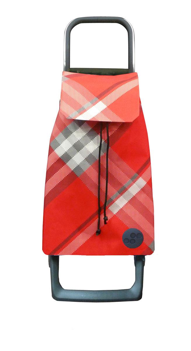 Сумка хозяйственная Rolser, на колесиках, цвет: красный, 36 л6113MАлюминиевая тележка для покупок Rolser с 2 колесами. Колеса выполнены из резины EVA. Эргономичная ручка, складываемая передняя подставка. Сумка имеет форму рюкзака, ткань полиэстер, влагоустойчивая, имеет удобное закрытие сумки и легко крепиться на раме. Тележка не складывается. Объем: 36 л. Диаметр колес: 13,2 см. Рекомендованная нагрузка: 25 кг.Чистка ручная или химчистка.