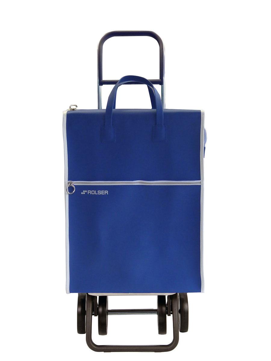 Сумка хозяйственная Rolser, на колесиках, цвет: синий, 40 л. LID002RG-D31SАлюминиевая тележка для покупок Rolser с 4 колесами, быстро трансформируется с 2 на 4 колеса. Колеса выполнены из резины EVA. Эргономичная ручка, складываемая передняя подставка. Ткань полиэстер, влагоустойчивая, имеет удобное закрытие сумки и легко крепиться на раме. Тележка не складывается. Объем: 40 л. Диаметр колес: 14 см. Рекомендованная нагрузка: 25 кг.Чистка ручная или химчистка.