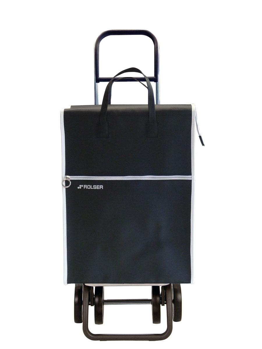 Сумка хозяйственная Rolser, на колесиках, цвет: черный, 40 л. LID00274-0060Алюминиевая тележка для покупок Rolser с 4 колесами, быстро трансформируется с 2 на 4 колеса. Колеса выполнены из резины EVA. Эргономичная ручка, складываемая передняя подставка. Ткань полиэстер, влагоустойчивая, имеет удобное закрытие сумки и легко крепится на раме. Тележка не складывается. Объем: 40 л. Диаметр колес: 14 см. Рекомендованная нагрузка: 25 кг.Чистка ручная или химчистка.