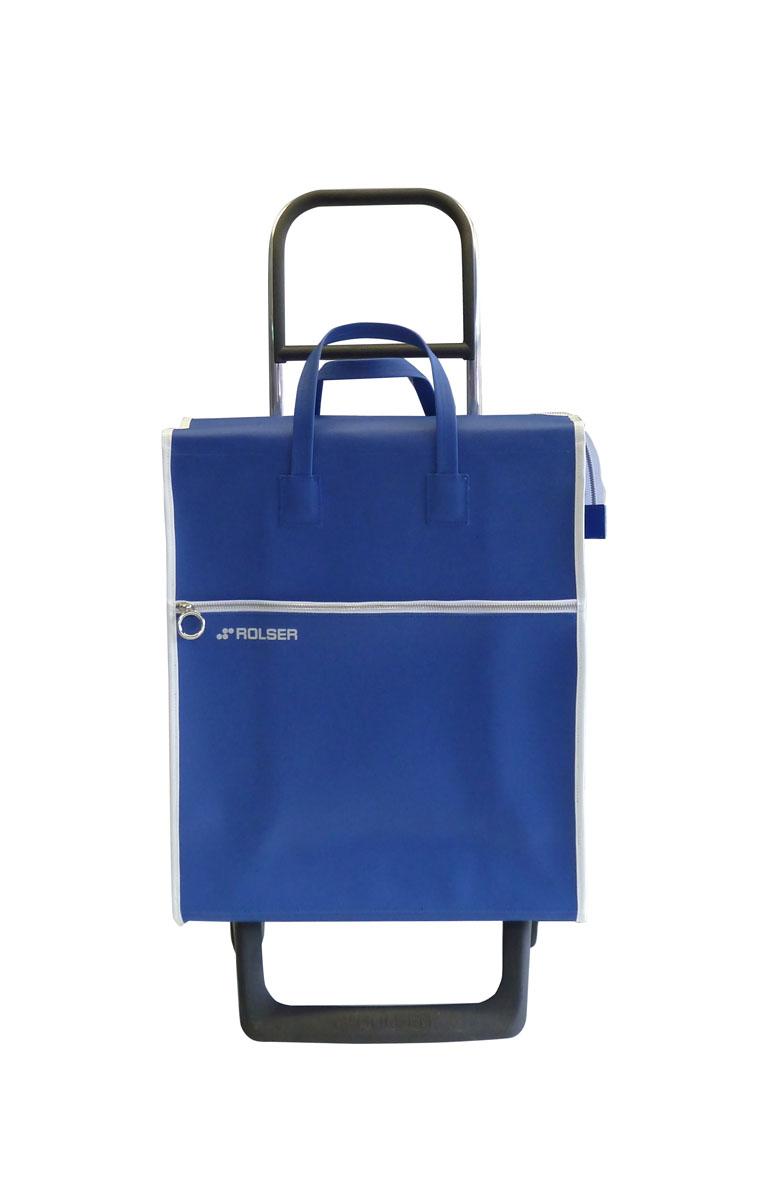 Сумка хозяйственная Rolser, на колесиках, цвет: синий, 36 лS03301007Алюминиевая тележка для покупок Rolser с 2 колесами, быстро трансформируется с 2 на 4 колеса. Колеса выполнены из резины EVA. Эргономичная ручка, складываемая передняя подставка. Сумка имеет форму рюкзака, ткань полиэстер, влагоустойчивая, имеет удобное закрытие сумки и легко крепиться на раме. Тележка не складывается. Объем: 36 л. Диаметр колес: 13,2 см. Рекомендованная нагрузка: 25 кг.Чистка ручная или химчистка.