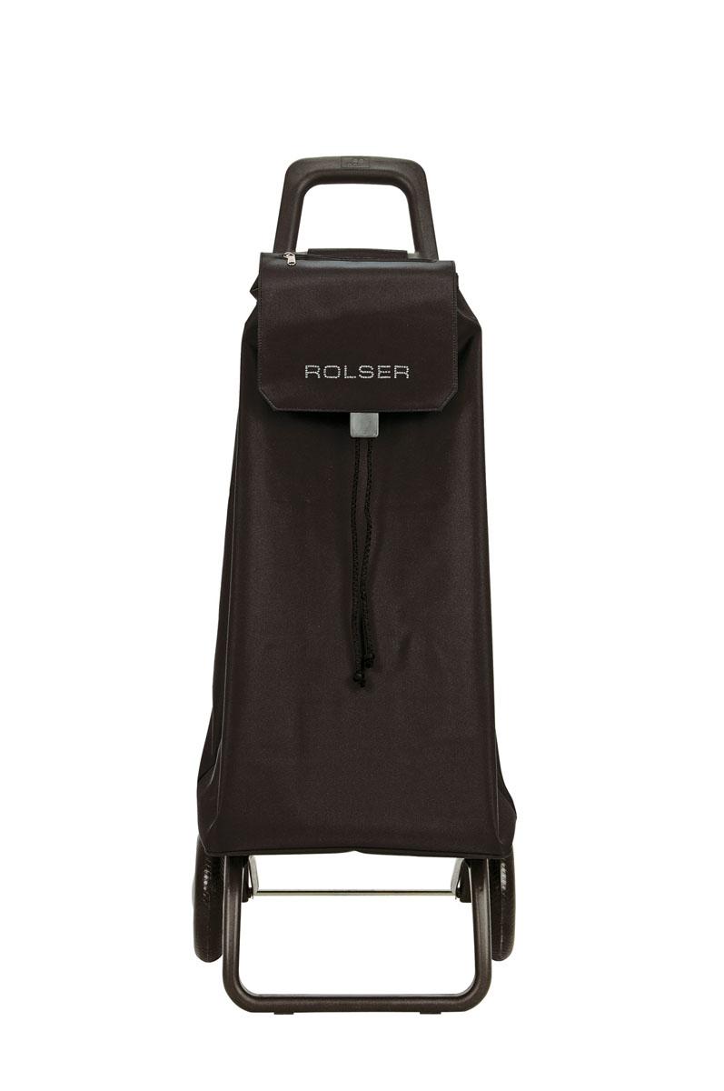 Сумка хозяйственная Rolser, на колесиках, цвет: черный, 51 лGC204/30Алюминиевая тележка для покупок Rolser с 2 колесами. Колеса выполнены из резины EVA. Складываемая передняя подставка занимает минимальное место в сложенном виде при хранении. Сумка имеет форму рюкзака, ткань полиэстер, влагоустойчивая. Тележка не складывается. Объем: 51 л. Диаметр колес: 16,5 см. Рекомендованная нагрузка: 25 кг.Чистка ручная или химчистка.
