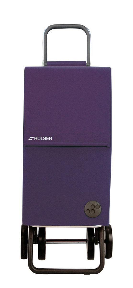 Сумка хозяйственная Rolser, на колесиках, цвет: лиловый, 45 л. PAR00513346Алюминиевая тележка для покупок Rolser с 4 колесами, быстро трансформируется с 2 на 4 колеса. Колеса выполнены из резины EVA. Эргономичная ручка, складываемая передняя подставка. Ткань полиэстер, влагоустойчивая. Тележка не складывается. Объем: 45 л. Диаметр колес: 14 см. Рекомендованная нагрузка: 25 кг.Чистка ручная или химчистка.