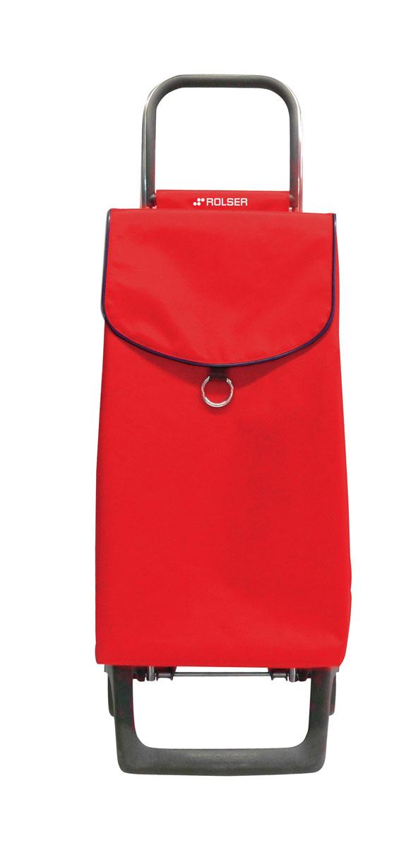 Сумка хозяйственная Rolser, на колесиках, цвет: красный, 39 л25051 7_зеленыйАлюминиевая тележка для покупок Rolser с 2 колесами. Колеса выполнены из резины EVA. Эргономичная ручка, складываемая передняя подставка. Ткань полиэстер, влагоустойчивая. Тележка не складывается. Объем: 39 л. Диаметр колес: 13,2 см. Рекомендованная нагрузка: 25 кг.Чистка ручная или химчистка.