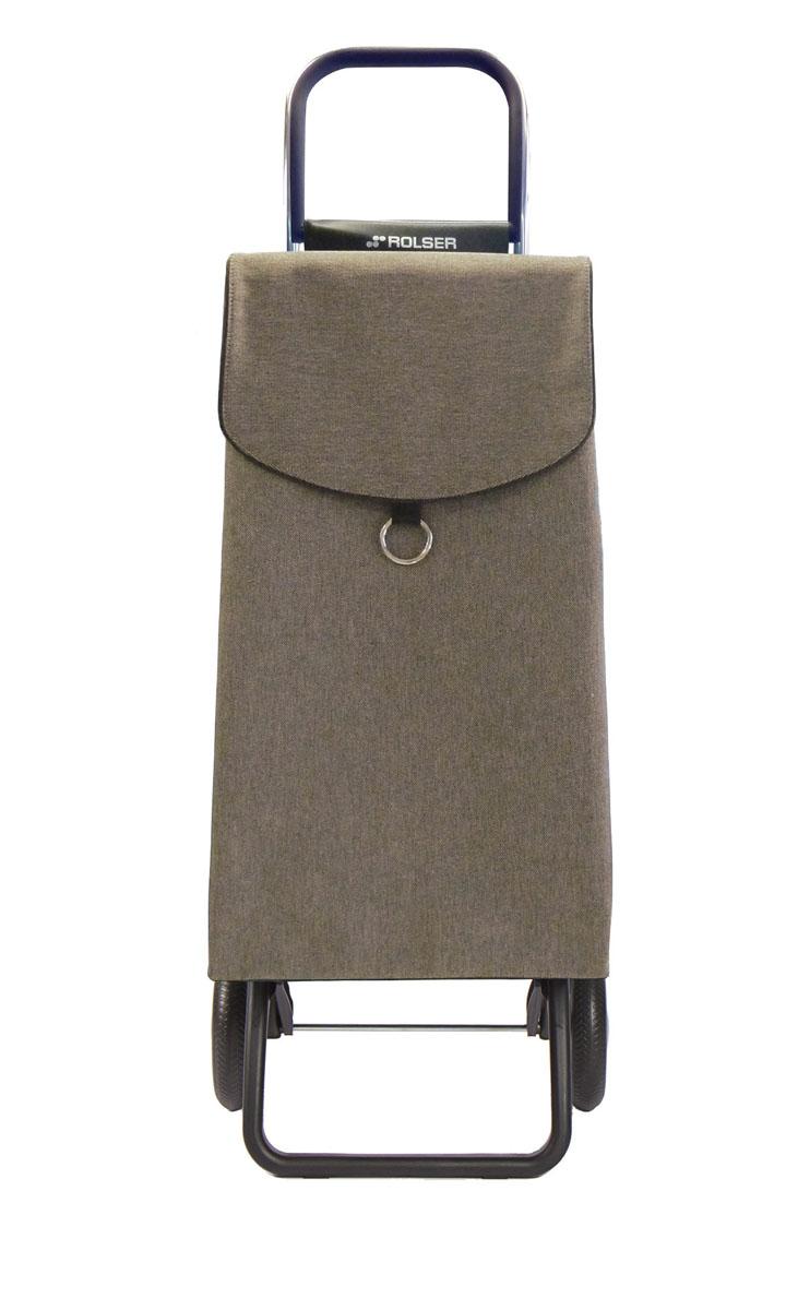 Сумка хозяйственная Rolser, на колесиках, цвет: серо-коричневый, 41 л150005Алюминиевая тележка для покупок Rolser с 2 колесами. Колеса выполнены из резины EVA. Эргономичная ручка, складываемая передняя подставка. Ткань полиэстер, влагоустойчивая, имеет удобное закрытие сумки и легко крепится на раме. Тележка не складывается. Объем: 41 л. Диаметр колес: 16,5 см. Рекомендованная нагрузка: 25 кг.Чистка ручная или химчистка.