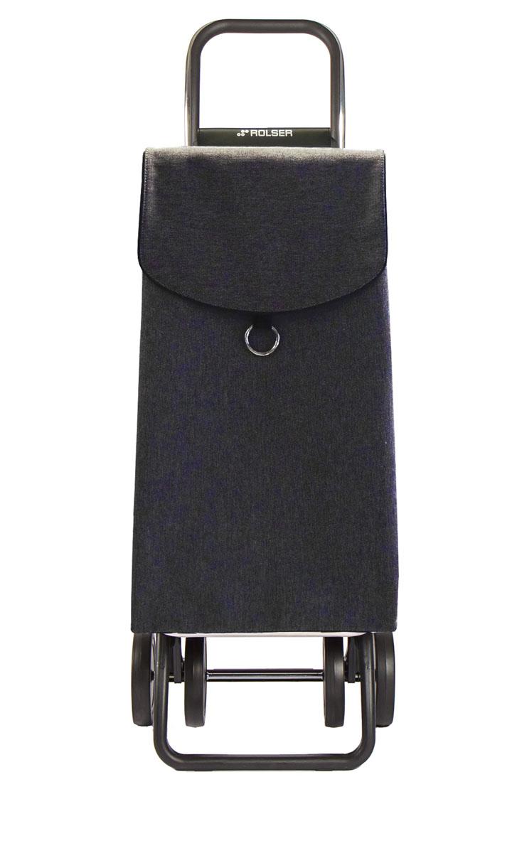 Сумка хозяйственная Rolser, на колесиках, цвет: серый, 41 л28907 4Алюминиевая тележка для покупок Rolser с 4 колесами, быстро трансформируется с 2 на 4 колеса. Колеса выполнены из резины EVA. Эргономичная ручка, складываемая передняя подставка. Ткань полиэстер, влагоустойчивая, имеет удобное закрытие сумки и легко крепиться на раме. Тележка не складывается. Объем: 41 л. Диаметр колес: 14 см. Рекомендованная нагрузка: 25 кг.Чистка ручная или химчистка.