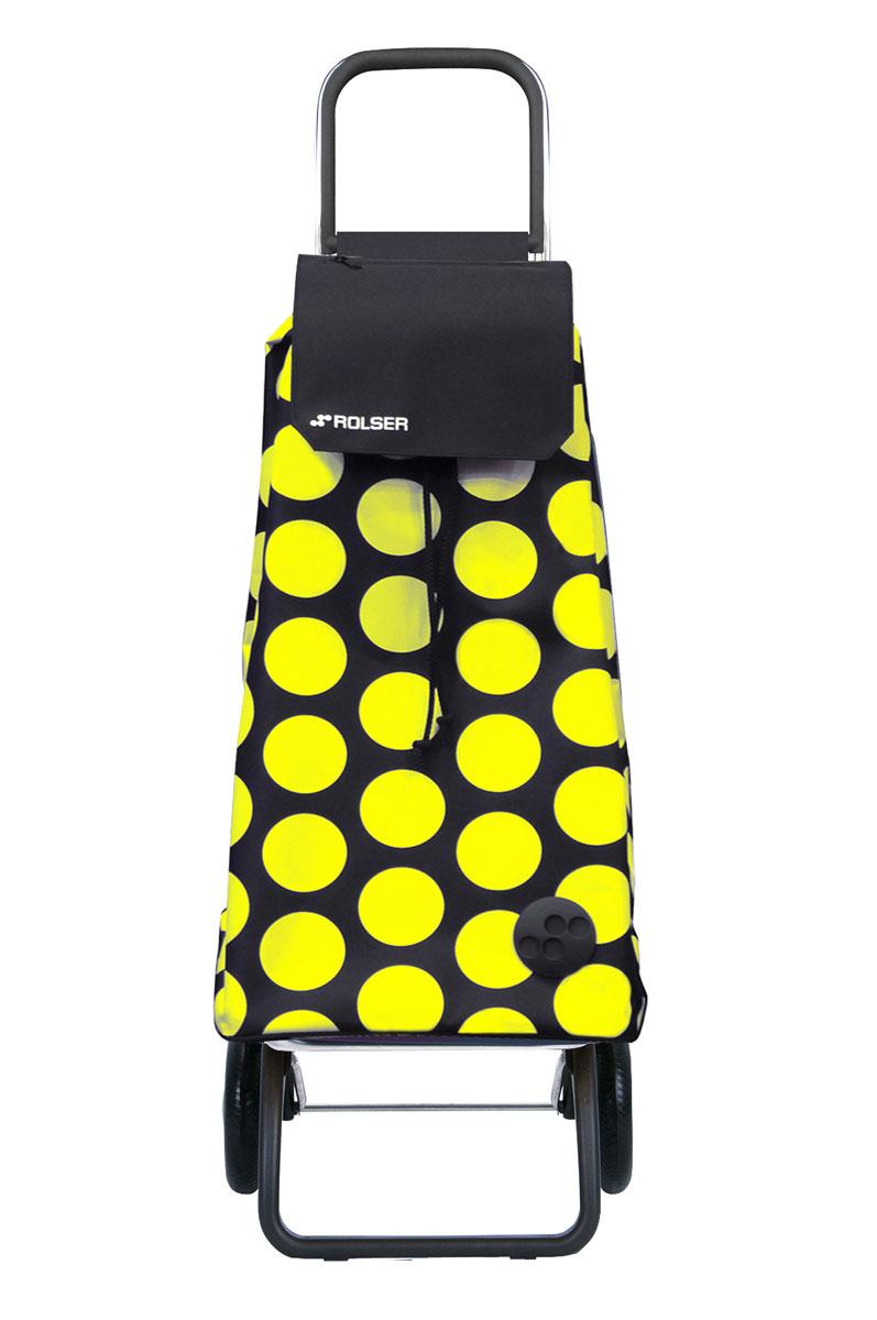 Сумка хозяйственная Rolser, на колесиках, цвет: черный, желтый, 51 лGC013/00Алюминиевая тележка для покупок Rolser с 2 колесами. Колеса выполнены из резины EVA. Складываемая передняя подставка занимает минимальное место в сложенном виде при хранении. Сумка имеет форму рюкзака, ткань полиэстер, влагоустойчивая. Тележка не складывается. Объем: 51 л. Диаметр колес: 16,5 см. Рекомендованная нагрузка: 25 кг.Чистка ручная или химчистка.