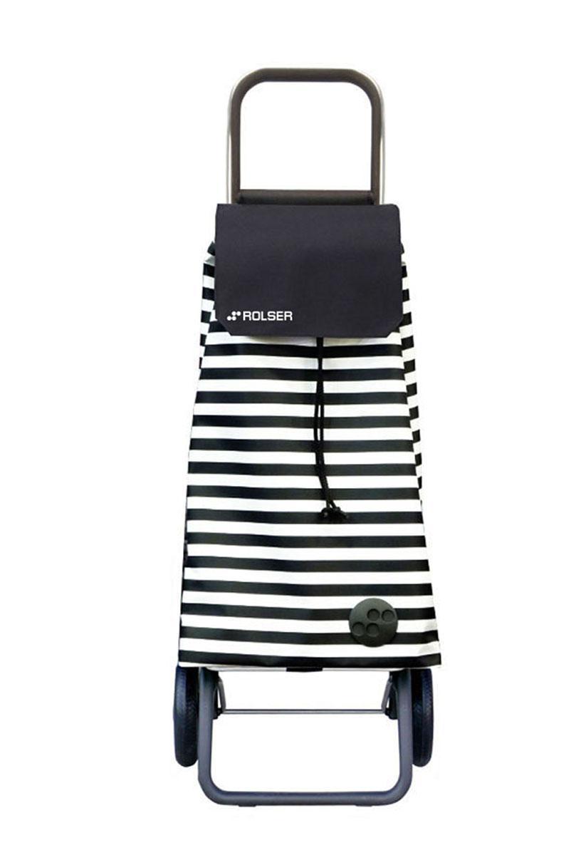 Сумка хозяйственная Rolser, на колесиках, цвет: белый, черный, 51 л. MOU086U210DFАлюминиевая тележка для покупок Rolser с 2 колесами. Колеса выполнены из резины EVA. Складываемая передняя подставка занимает минимальное место в сложенном виде при хранении. Сумка имеет форму рюкзака, ткань полиэстер, влагоустойчивая, имеет удобное закрытие сумки и легко крепится на раме. Тележка не складывается. Объем: 51 л. Диаметр колес: 16,5 см. Рекомендованная нагрузка: 25 кг.Чистка ручная или химчистка.