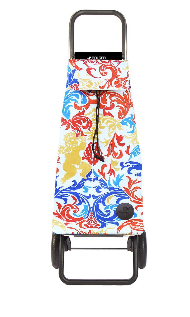 Сумка хозяйственная Rolser, на колесиках, цвет: белый, синий, красный, 51 лU210DFАлюминиевая тележка для покупок Rolser с 2 колесами. Колеса выполнены из резины EVA. Складываемая передняя подставка занимает минимальное место в сложенном виде при хранении. Сумка имеет форму рюкзака, ткань полиэстер, влагоустойчивая. Сумка имеет удобное закрытие и легко крепится на раме. Тележка не складывается. Объем: 51 л. Диаметр колес: 16,5 см. Рекомендованная нагрузка: 25 кг.Чистка ручная или химчистка.