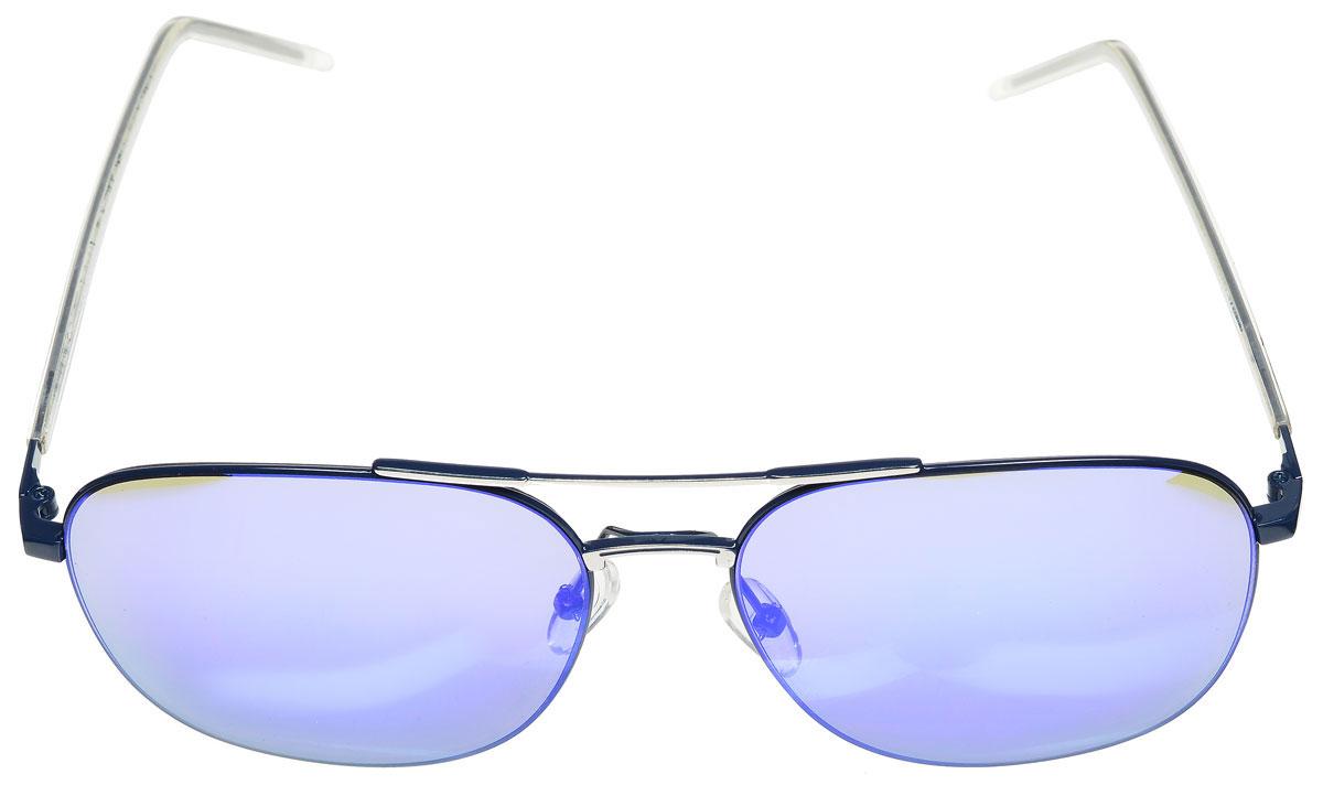 Очки солнцезащитные женские Vitacci, цвет: синий. O175INT-06501Стильные солнцезащитные очки Vitacci выполнены из металла с элементами из высококачественного пластика.Линзы данных очков обладают высокоэффективным поляризационным покрытием со степенью защиты от ультрафиолетового излучения UV400. Используемый пластик не искажает изображение, не подвержен нагреванию и вредному воздействию солнечных лучей. Оправа очков легкая, прилегающей формы, дополнена носоупорами и поэтому обеспечивает максимальный комфорт.Такие очки защитят глаза от ультрафиолетовых лучей, подчеркнут вашу индивидуальность и сделают ваш образ завершенным.