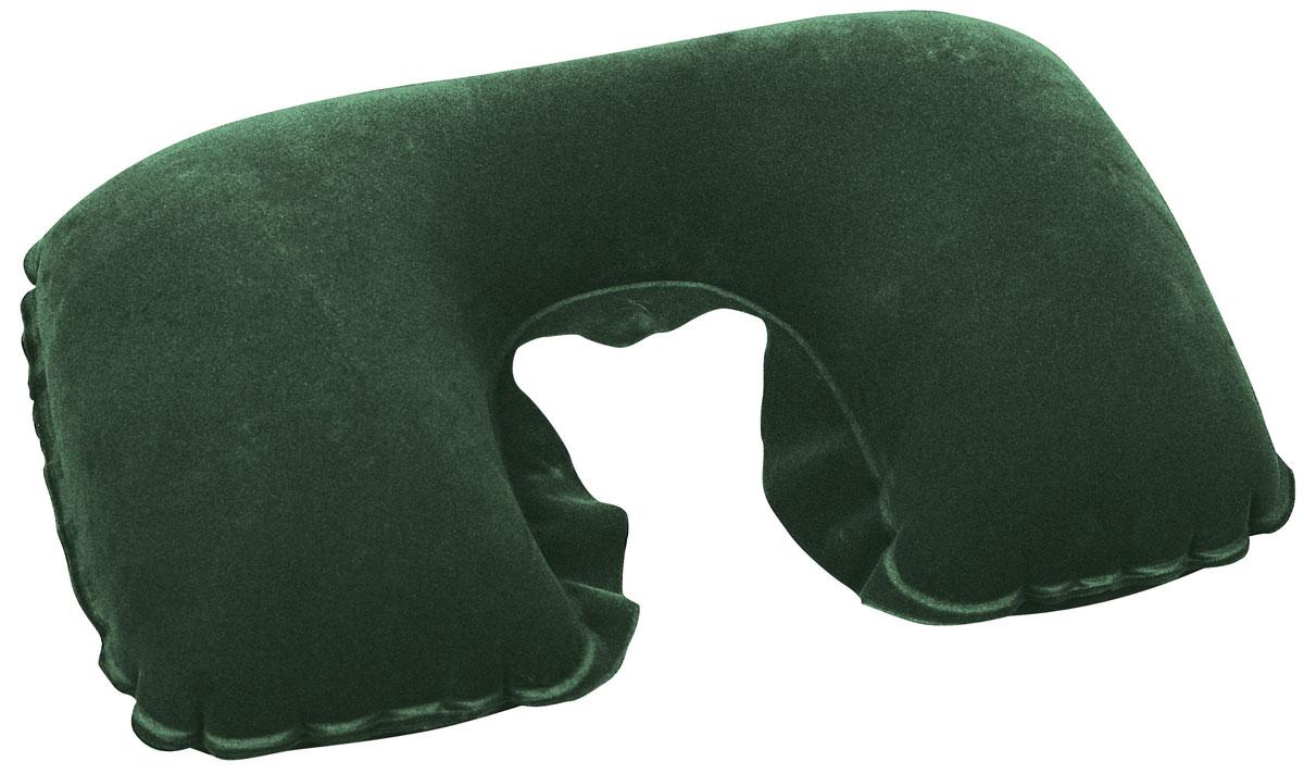 Bestway Подушка надувная под шею, цвет: зеленый, флокированная, 46 х 28 см67006_зеленыйПодушка надувная под шею, цвет:, 46х28 см