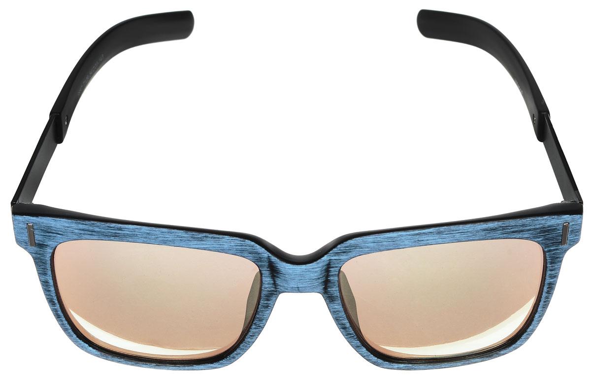 Очки солнцезащитные женские Vitacci, цвет: черный, голубой. O160BM8434-58AEСтильные солнцезащитные очки Vitacci выполнены из высококачественного пластика с элементами из металла.Линзы данных очков обладают высокоэффективным поляризационным покрытием со степенью защиты от ультрафиолетового излучения UV400. Используемый пластик не искажает изображение, не подвержен нагреванию и вредному воздействию солнечных лучей. Пластиковая оправа очков легкая, прилегающей формы и поэтому обеспечивает максимальный комфорт. Оправа имеет оригинальную фактуру, а дужки дополнены декоративными элементами из металла.Такие очки защитят глаза от ультрафиолетовых лучей, подчеркнут вашу индивидуальность и сделают ваш образ завершенным.
