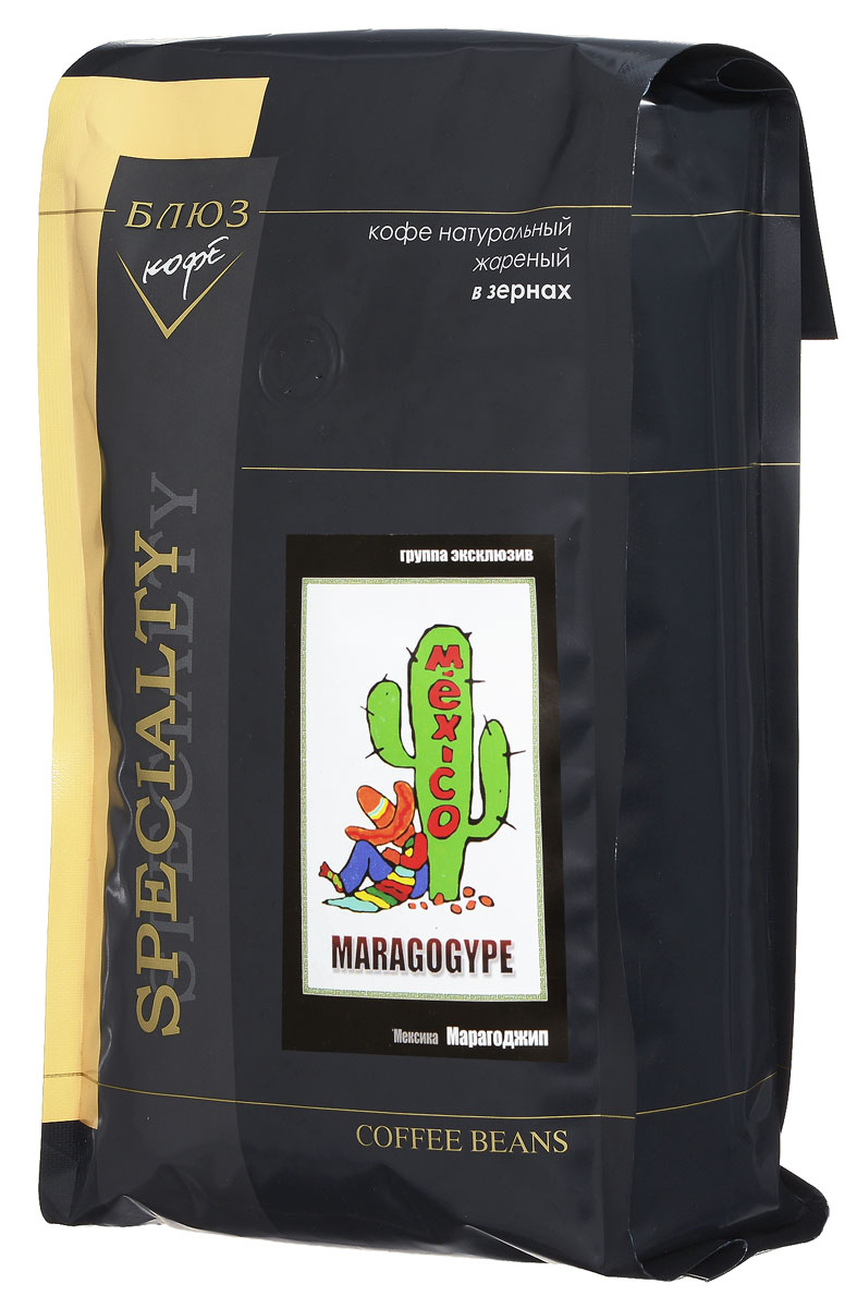 Блюз Марагоджип Мексика кофе в зернах, 1 кг0120710В Мексике этот необычный сорт кофе известен как Ликвуидамбар. Характерной особенностью этого кофе является неповторимый мягкий вкус. Напиток обладает выразительным букетом, насыщенным вкусом и выраженной кислинкой.