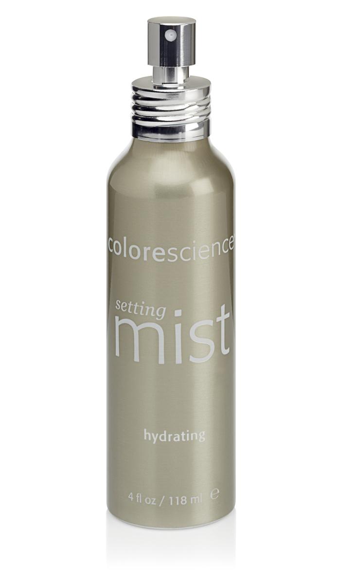 Colorescience Фиксирующий увлажняющий спрей для всех типов кожи Hydrating Setting Mist, 118 млFS-00897Освежите кожу универсальным увлажняющим спреем. Интенсивно увлажняющая, питательная формула придает ему качество сыворотки, обеспечивая коже любого типа смягчение, защиту от обезвоживания и сухости, восстанавливающий эффект при шелушении. Превосходно удерживает нанесенный макияж и солнцезащитную минеральную косметику, оживляет и увлажняет кожу.