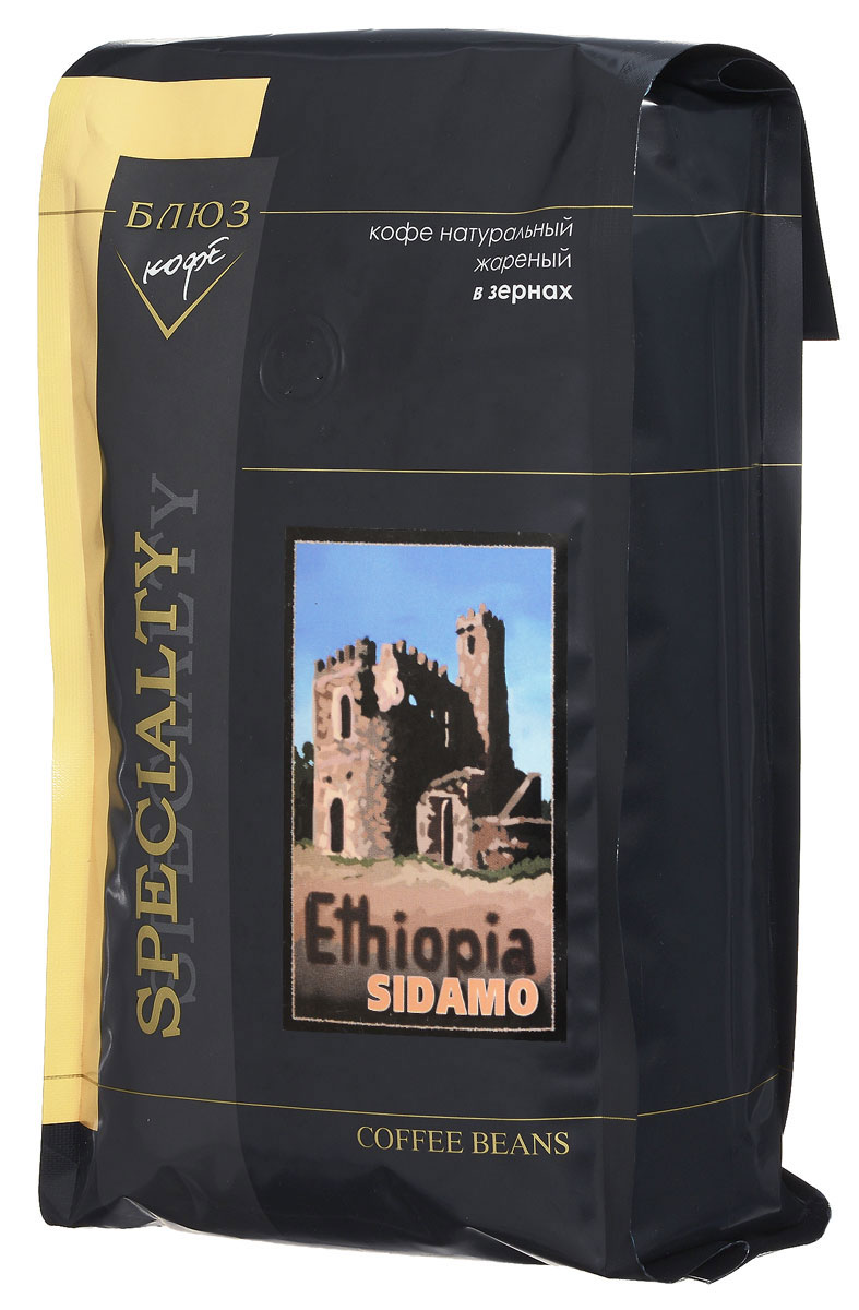 Блюз Эфиопия Мокко Сидамо кофе в зернах, 1 кг4600696210125Блюз Эфиопия Мокко Сидамо - арабика из южной части Эфиопии. Данный сорт имеет особый индивидуальный вкус с фруктовым и шоколадным оттенками и пикантный фруктовый аромат. Настой крепкий, с долгим послевкусием. Богатый, хорошо сбалансированный букет подарит вам незабываемые ощущения.