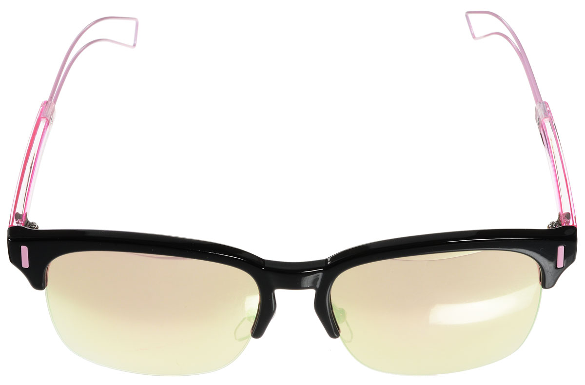 Очки солнцезащитные женские Vitacci, цвет: черный, розовый. O162BM8434-58AEСтильные солнцезащитные очки Vitacci выполнены из металла и высококачественного пластика.Линзы данных очков обладают высокоэффективным поляризационным покрытием со степенью защиты от ультрафиолетового излучения UV400. Используемый пластик не искажает изображение, не подвержен нагреванию и вредному воздействию солнечных лучей. Оправа очков легкая, прилегающей формы, дополнена носоупорами и поэтому обеспечивает максимальный комфорт.Такие очки защитят глаза от ультрафиолетовых лучей, подчеркнут вашу индивидуальность и сделают ваш образ завершенным.