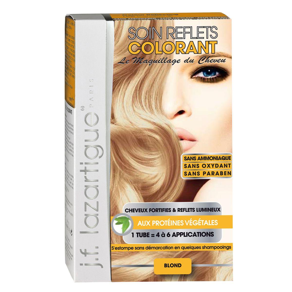 J.F.Lazartigue Оттеночный кондиционер для волос Блондин 100 мл766910Оттеночный кондиционер J.F.LAZARTIGUE – это лечебный макияж для Ваших волос. Два эффекта: кондиционирование волос и легкий оттенок. Особенности: придает новый или более теплый (или холодный) оттенок, делает тон темнее или акцентирует цвет, оживляет естественный цвет или придает яркость тусклым и выцветшим на солнце волосам. Закрашивает небольшой процент седины! После мытья волос шампунем (3-6 раз) смывается. Для достижения индивидуального оттенка можно смешать два разных кондиционера: добавить к выбранному ТЕМНЫЙ РЫЖИЙ (Auburn), МЕДНЫЙ (Copper) и т.п. Не осветляет волосы. Не содержит аммиака и перекиси водорода. Не содержит парабенов. Не предназначен для окрашивания бровей и ресниц.