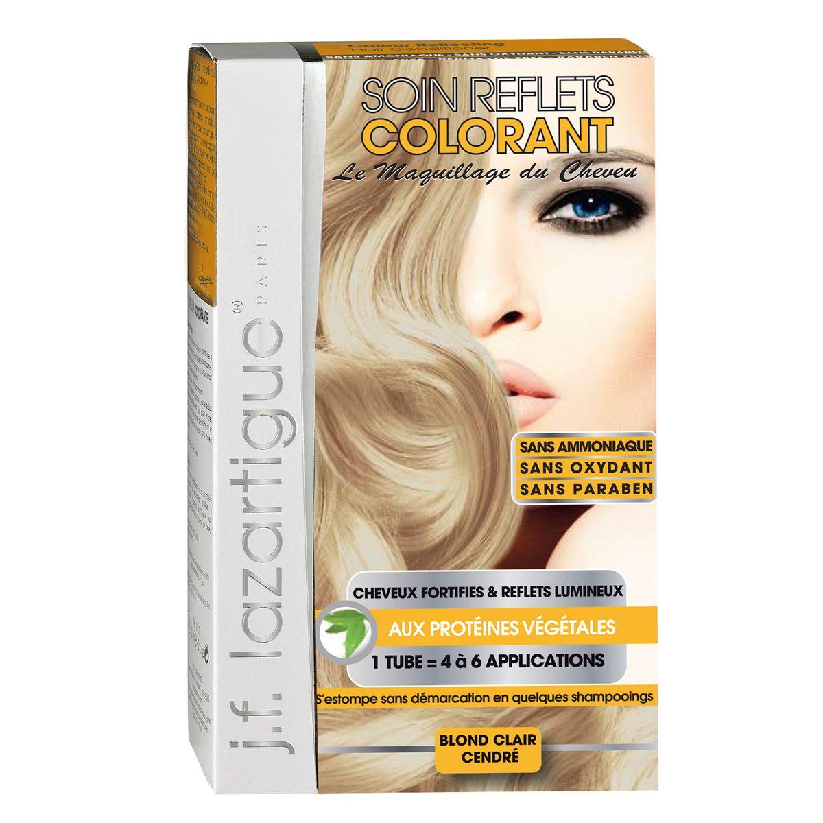 J.F.Lazartigue Оттеночный кондиционер для волос Светло-пепельный блондин 100 мл7135442Оттеночный кондиционер J.F.LAZARTIGUE – это лечебный макияж для Ваших волос. Два эффекта: кондиционирование волос и легкий оттенок. Особенности: придает новый или более теплый (или холодный) оттенок, делает тон темнее или акцентирует цвет, оживляет естественный цвет или придает яркость тусклым и выцветшим на солнце волосам. Закрашивает небольшой процент седины! После мытья волос шампунем (3-6 раз) смывается. Для достижения индивидуального оттенка можно смешать два разных кондиционера: добавить к выбранному ТЕМНЫЙ РЫЖИЙ (Auburn), МЕДНЫЙ (Copper) и т.п. Не осветляет волосы. Не содержит аммиака и перекиси водорода. Не содержит парабенов. Не предназначен для окрашивания бровей и ресниц.