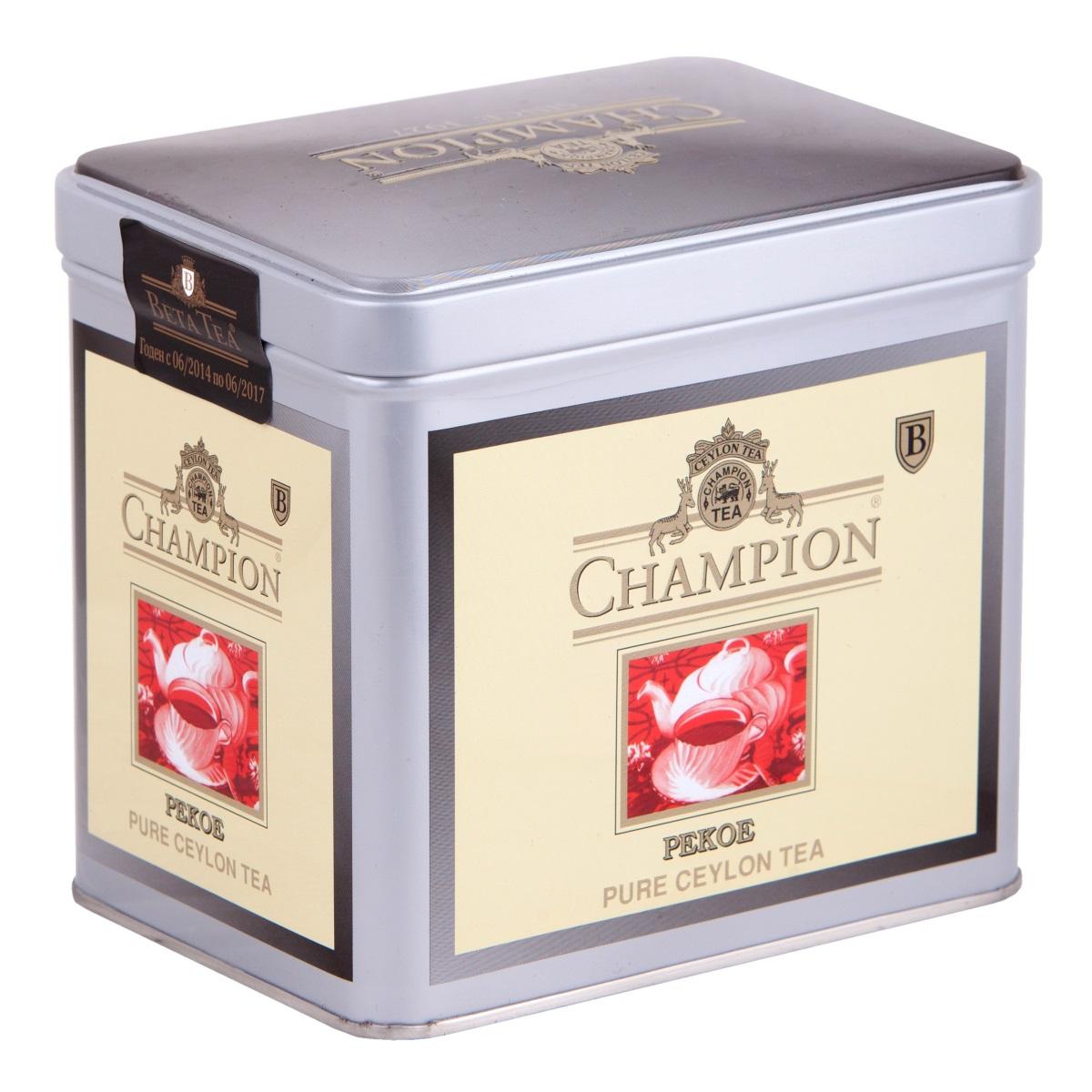 Champion Пеко черный листовой чай, 250 г (металлическая банка)101246Чай Champion Пеко с богатым вкусом, прозрачным и золотистым цветом дает возможность любителям чая оценить настоящий вкус напитка. Чай этого сорта выращивается на плантациях Шри-Ланки. При его создании используется особая технология скручивания чайных листочков. Сочный насыщенный цвет, богатый аромат и терпкость - его отличительные характеристики.