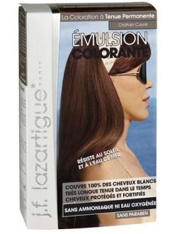 J.F.Lazartigue Оттеночная эмульсия для волос Медно-каштановый 60 мл1689008Благодаря оригинальной формуле полностью (на 100%) скрывает седину, длительное время сохраняет цвет, поддерживает здоровье и жизненную силу волос и сохраняет эти качества, несмотря на воздействие солнечных лучей, морской воды и прочих неблагоприятных экологических факторов. Не осветляет, не повреждает, а укрепляет волосы. Не содержит аммиака, перекиси водорода и парабенов. Не предназначена для окрашивания бровей и ресниц.