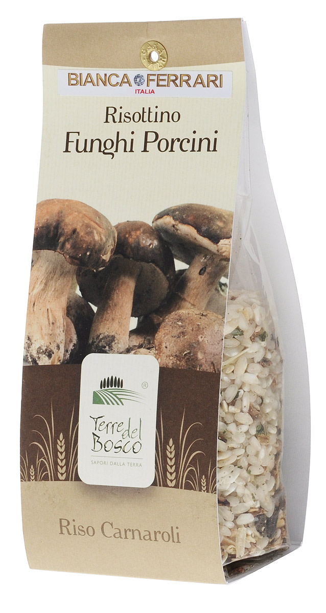 Terre Del Bosco Белый гриб рис для ризотто, 250 г0120710Terre Del Bosco Белый гриб - превосходный тонкий рис высшего сорта с белыми грибами для ризотто. В состав также входят петрушка, лук и чеснок.Варить в подсоленной кипящей воде медленно помешивая.