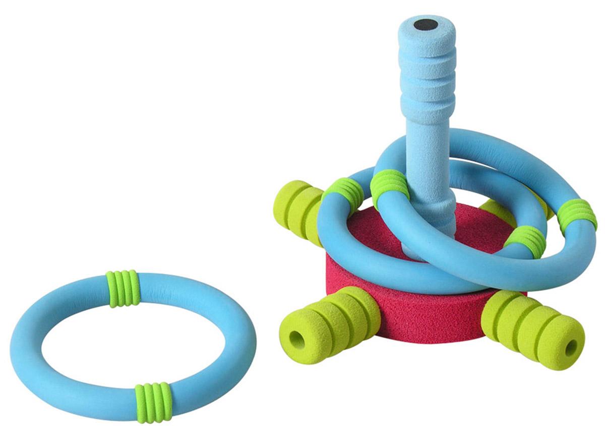 """С игровым набором """"Мини-кольцеброс"""" ваш ребенок сможет весело провести время с друзьями, соревнуясь в ловкости. Набор включает в себя мишень-крестовину и три кольца для бросания. Задача ребенка состоит в том, чтобы с определенного расстояния бросить кольцо и попасть на колышек-мишень. Игра проходит в несколько туров (количество туров произвольное). За каждое нанизанное кольцо игрок получает один балл. Выигрывает тот участник, который набирает в сумме наибольшее количество баллов за все туры. """"Кольцеброс"""" увлекательная игра, в которую можно играть, как дома, так и на свежем воздухе. Она поможет ребенку развить меткость, ловкость и координацию движений. Уважаемые клиенты! Товар поставляется в ассортименте. Поставка осуществляется в зависимости от наличия на складе."""