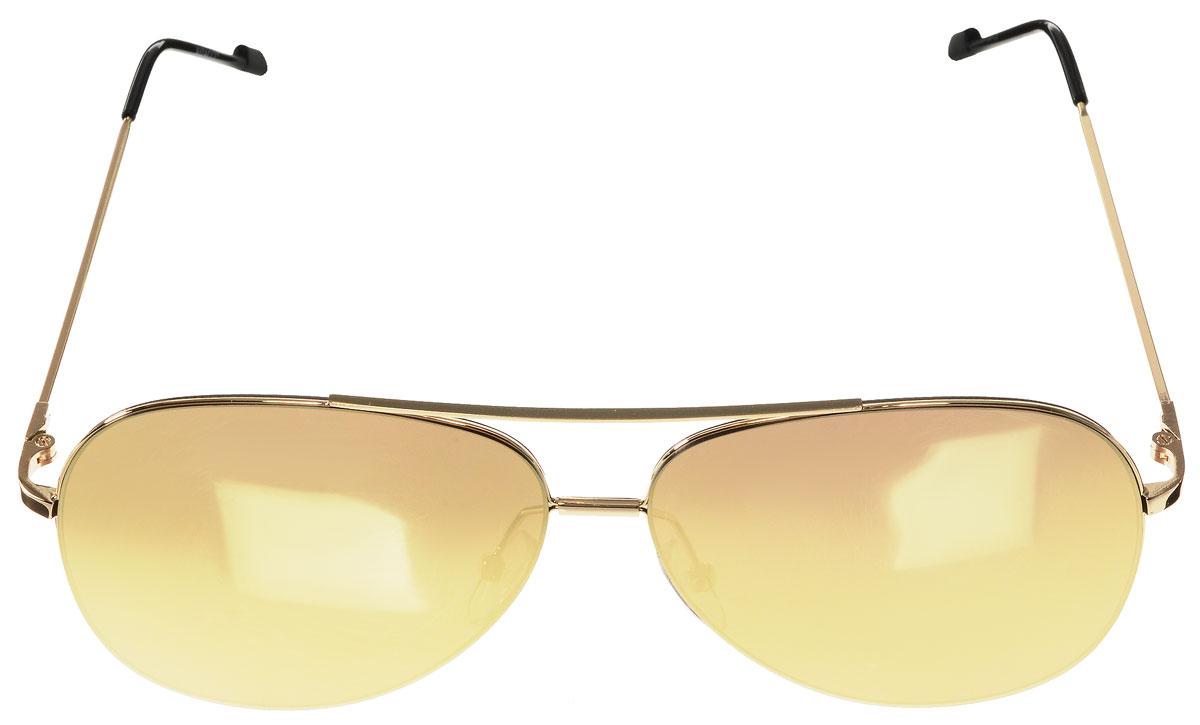 Очки солнцезащитные женские Vitacci, цвет: золотой, черный. O183BM8434-58AEСтильные солнцезащитные очки Vitacci выполнены из металла с элементами из высококачественного пластика.Линзы данных очков имеют степень затемнения С3, а также обладают высокоэффективным поляризационным покрытием со степенью защиты от ультрафиолетового излучения UV400. Используемый пластик не искажает изображение, не подвержен нагреванию и вредному воздействию солнечных лучей. Оправа очков легкая, прилегающей формы, дополнена носоупорами и поэтому обеспечивает максимальный комфорт.Такие очки защитят глаза от ультрафиолетовых лучей, подчеркнут вашу индивидуальность и сделают ваш образ завершенным.