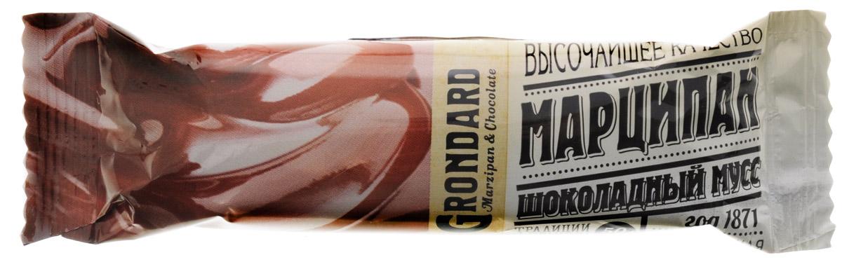 Grondard Marzipan батончик марципановый с шоколадным муссом, 50 г0120710Шоколадный марципановый батончик Grondard с начинкой шоколадный мусс подарит истинное наслаждение великолепным вкусом. Этим лакомством всегда приятно побаловать себя и гостей за вечерним чаепитием. Его изысканный и оригинальный марципановый вкус, дополненный утонченным шоколадным вкусом, поможет перенестись в атмосферу мечтаний и грез. Очаруйтесь их вкусом, оцените все грани этого изящного лакомства от компании Grondard.