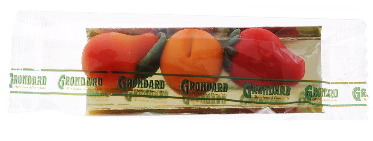 Grondard Marzipan Марципановые фрукты конфеты, 36 г0120710Нежные марципановые конфеты в оригинальном исполнении подарят истинное наслаждение великолепным вкусом. Это лакомство придется по вкусу как взрослым, так и маленьким сладкоежкам. Их изысканный и оригинальный марципановый вкус поможет перенестись в атмосферу мечтаний и грез. Очаруйтесь их вкусом, оцените все грани этого изящного лакомства от компании Grondard.