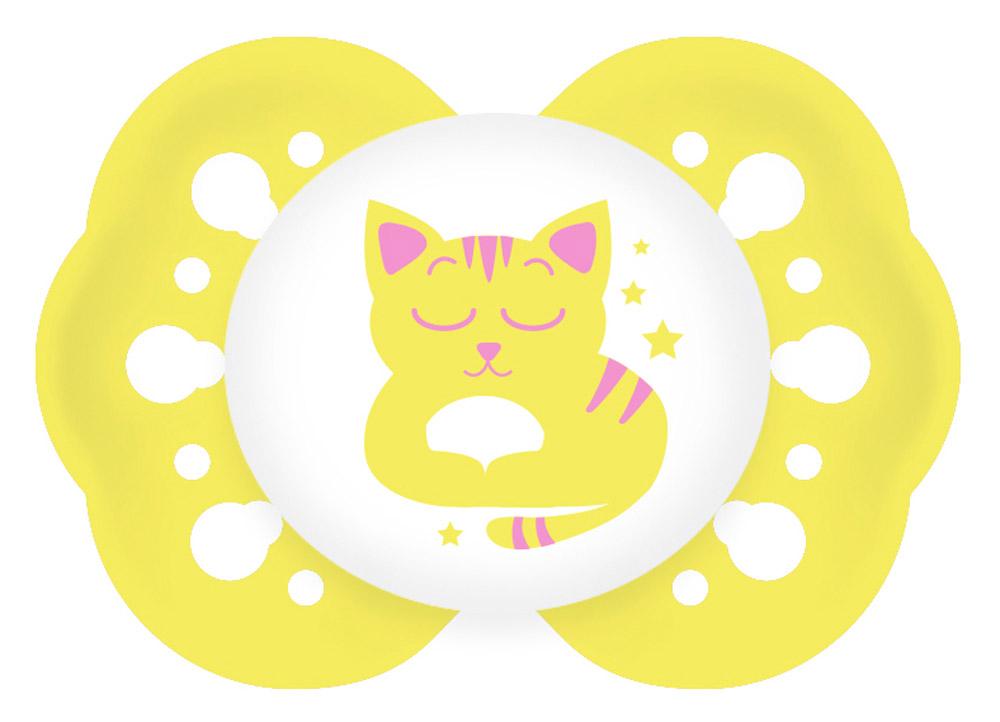 Lubby Пустышка силиконовая для сна Нежная Кошка от 0 месяцев