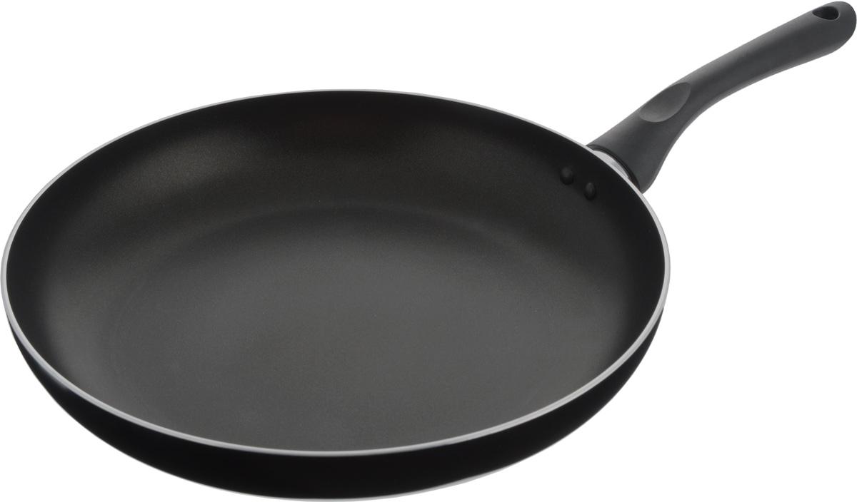 Сковорода Bekker, с антипригарным покрытием, цвет: черный. Диаметр 30 см. BK-3748BK-3748_черныйСковорода Bekker изготовлена из алюминия с внутренним антипригарным покрытием Xylan Plus. Благодаря этому пища не пригорает и не прилипает к стенкам. Готовить можно с минимальным количеством масла и жиров. Гладкая поверхность обеспечивает легкость ухода за посудой. Внешнее покрытие - цветной жаростойкий лак. Изделие оснащено удобной бакелитовой ручкой, которая не нагревается в процессе готовки.Сковорода подходит для использования на газовых, электрических и стеклокерамических плитах, кроме индукционных. Можно мыть в посудомоечной машине.Диаметр сковороды (по верхнему краю): 30 см.Высота стенки: 5 см.Длина ручки: 18,2 см.