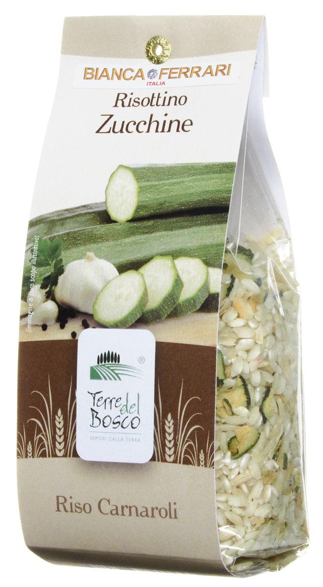 Terre Del Bosco Цуккини рис для ризотто, 250 г231Terre Del Bosco Цуккини - тонкий рис высшего сорта с добавлением петрушки, чеснока, и лука для приготовления ризотто. Содержание цукини: не менее 3%.