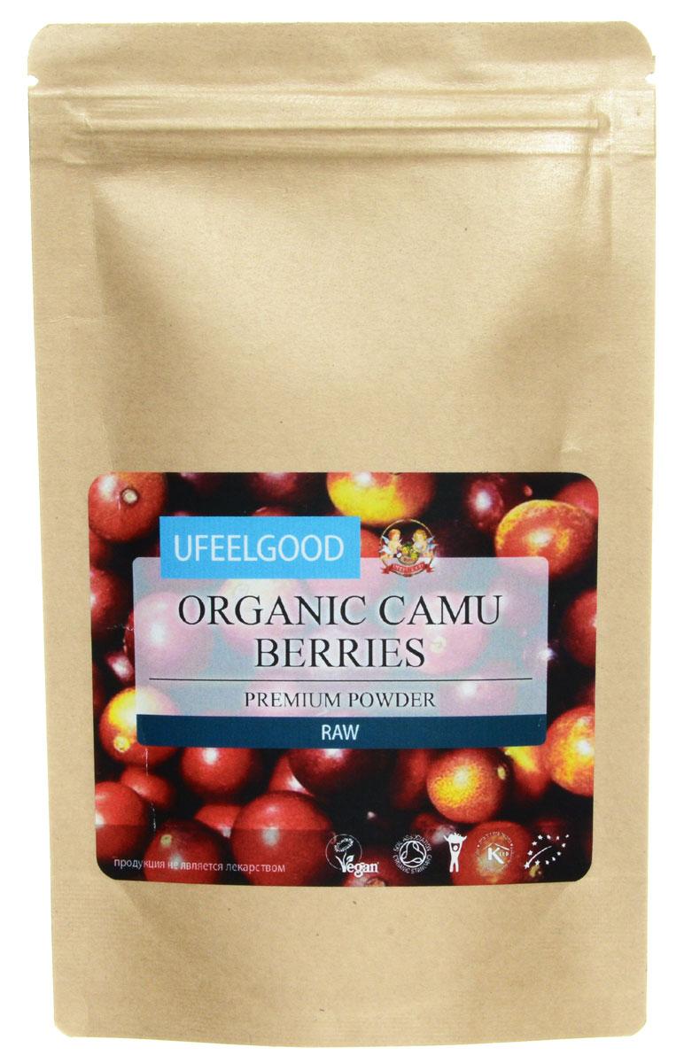 UFEELGOOD Organic Camu Berries Premium Powder ягода каму-каму молотая, 100 г0120710Основное преимущество ягоды каму-каму связано с высоким содержанием витамина С, которого в 30 раз больше, чем во фруктах оранжевого цвета.Из-за сложной смеси с другими природными витаминами, минералами и питательными веществами, витамин С так эффективно усваивается нашим организмом. Большинство синтетических добавок с витамином С содержат только аскорбиновую кислоту, которая в изоляции не может обеспечить такой же уровень усвоения,как естественный цельный источник питания, который дополнен поддержкой фитохимических веществ, антиоксидантов и клеточных защитных флавоноидов.Благодаря тому, что эта маленькая ягодка содержит колоссальное количество витамина С, она обладает антиоксидантным и иммуностимулирующим действием: помогает бороться с воспалением и оксидативным стрессом, улучшает зрение и помогает бороться с глаукомой, полезна для профилактики сердечнососудистых заболеваний.