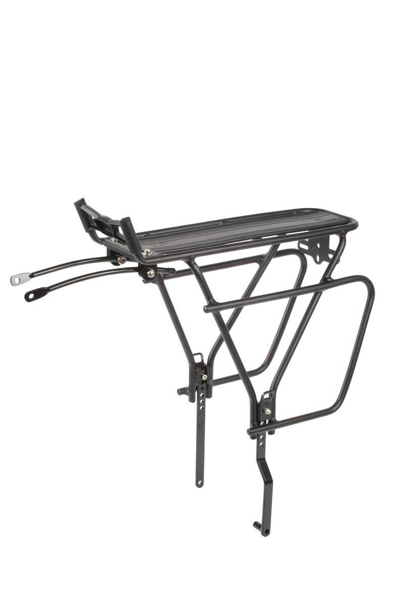 Багажник велосипедный Zefal Raider Universal, задний7501Багажник велосипедныйZefal Raider Universal жесткой конструкции предназначен для установки на заднее колесо. Материал – высокопрочный алюминий 6061. Багажник универсальный и подходит для велосипедов с колесами размером 26, 27.5, 28 (700с) и 29. Совместим как с ободными тормозами, так и с дисковыми. Максимальная допустимая нагрузка – 25 кг. Zefal – старейший французский производитель велосипедных аксессуаров премиального качества, основанный в 1880 году, является номером один на французском рынке велосипедных аксессуаров.