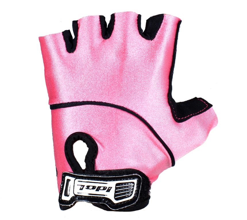 Перчатки велосипедные для девочки Idol, цвет: черный, розовый. 892. Размер универсальный892Детские велосипедные перчатки без пальцев Idol предназначены для тех, кто занимается велоспортом, велотуризмом или просто катается на велосипеде. Рабочая поверхность велоперчаток выполнена из высококачественной синтетической кожи черного цвета, а верхняя часть - из лайкры, хорошо отводящей влагу и, благодаря своей упругости, плотно сидящей на руке. На запястье перчатка фиксируется прочной липучкой. Высокое качество, технически совершенные материалы, оригинальный стильный дизайн, функциональность и долговечность выделяют велоперчатки Idol среди прочих.
