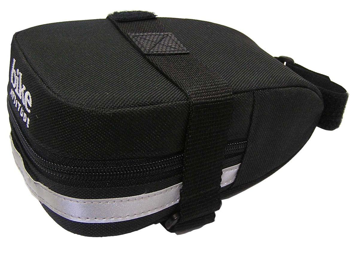 Подседельная сумка Bike Attitude SL3240Z90 blackПодседельная сумка для велосипеда Bike Attitude SL3240 изготовлена из высококачественного текстиля (полистер). Прорезиненная молния защиты от попадания влаги внутрь. Легкая и быстрая установка на подседельный штырь и рамки седла. Bike Attitude – тайваньский производитель велосипедных аксессуаров, огромный ассортимент велоаксессуаров и велозапчастей. Подседельная сумка Bike Attitude SL3240, цвет черныйОСОБЕННОСТИ: - Сумка изготовлена из полистера - Водонепроницаемая молния- Крепление на душки седла и подседельный штырь