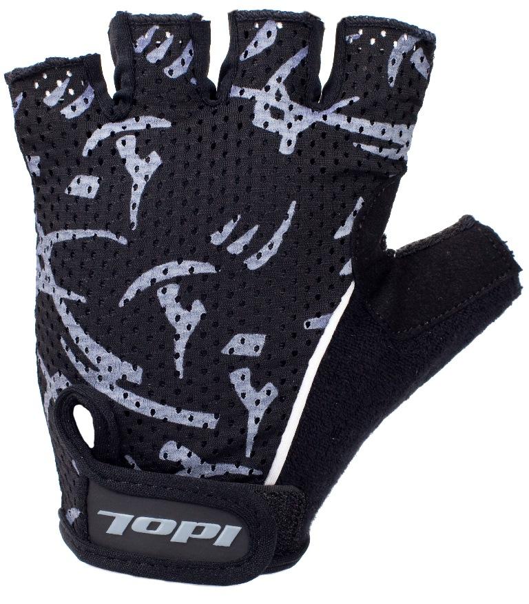 Перчатки велосипедные Idol, цвет: черный. 1592. Размер LZ90 blackУдобные велосипедные перчатки без пальцев Idol предназначены для тех, кто занимается велоспортом, велотуризмом или просто катается на велосипеде. Рабочая поверхность велоперчаток выполнена из плотного сетчатого материала, а верхняя часть - из лайкры, хорошо отводящей влагу и, благодаря своей упругости, плотно сидящей на руке. На запястьях перчатки фиксируются прочными липучками. Для удобства снятия каждая перчатка оснащена двумя небольшими петельками.Высокое качество, технически совершенные материалы, оригинальный стильный дизайн, функциональность и долговечность выделяют велоперчатки Idol среди прочих.