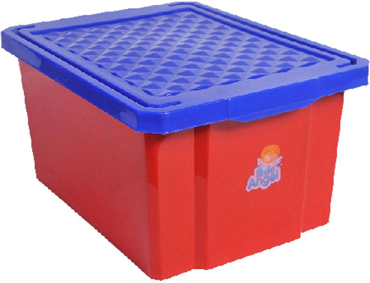 Little Angel Ящик для хранения игрушек 17 л цвет красный1004900000360В нашем ящике можно разместить все, что угодно: детские игрушки или одежду. При необходимости его можно убрать под кровать или дополнить им интерьер детской комнаты.
