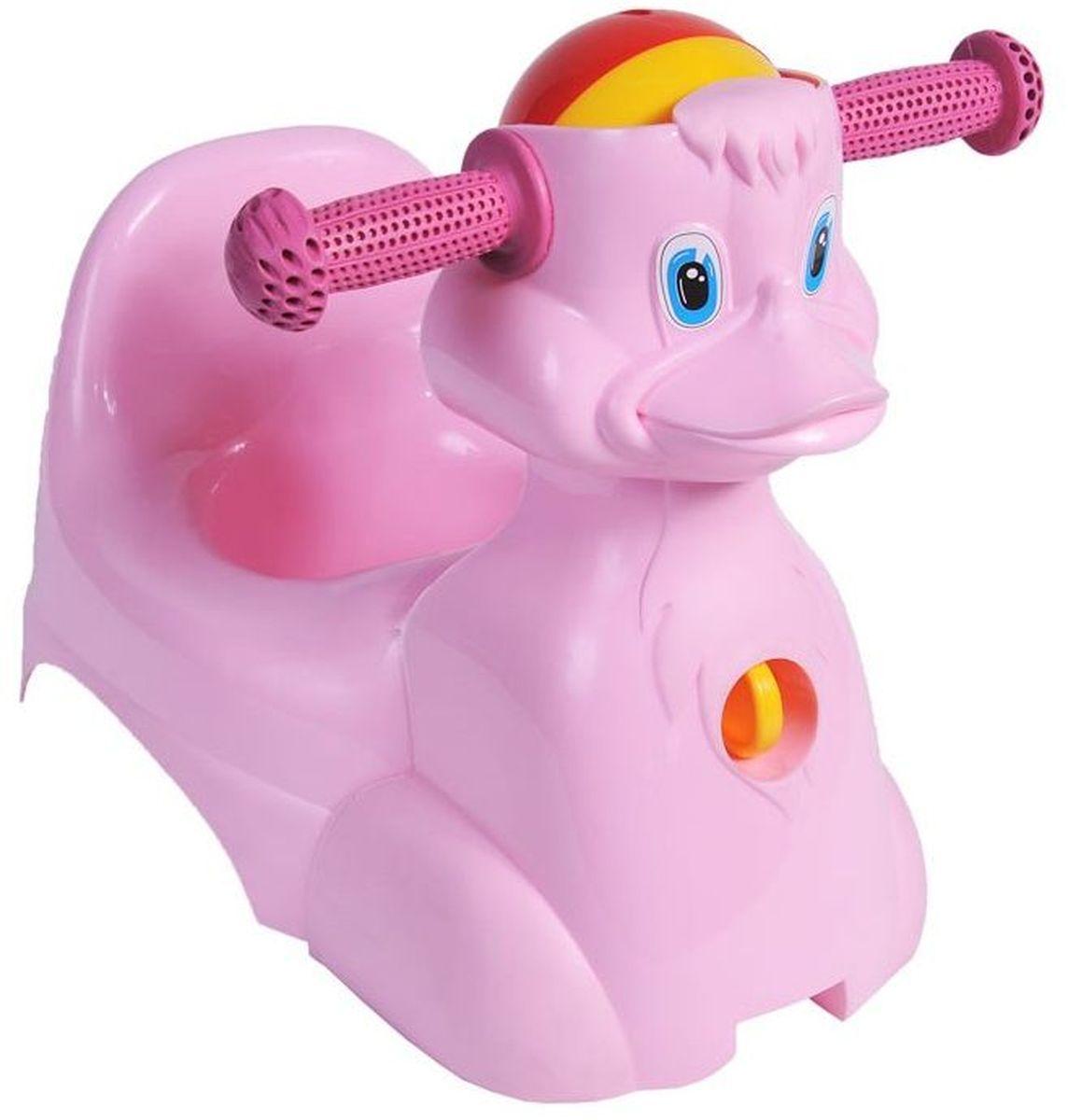 Little Angel Горшок-игрушка Уточка цвет розовый