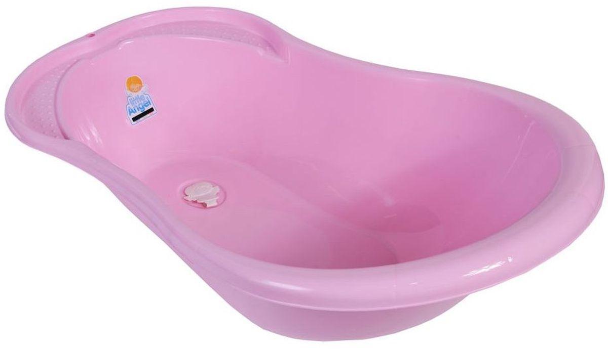 Little Angel Ванна детская Ангел со сливом и термометром цвет розовый -  Ванны