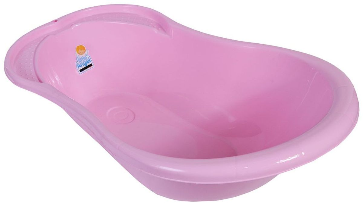 Little Angel Ванна детская Ангел с термометром цвет розовый -  Ванны